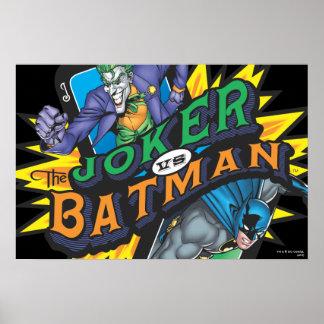 Der Joker gegen Batman Poster
