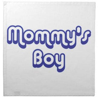 Der Junge der Mama Serviette