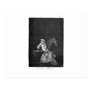 Der Junge des Kindermädchens durch Francisco Goya Postkarte