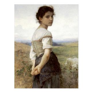 Der junge Shepherdess - das junge Mädchen Postkarte