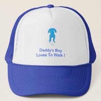 Der Jungen-Hut des blauen Hundeohr-unten Vatis Truckerkappe