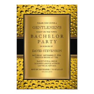 Der Junggeselle-Party-der Männer der Bier-Herren Karte
