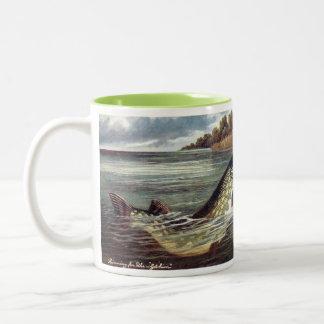 Der Kaffee-Tasse des Fischers - Pike Zweifarbige Tasse