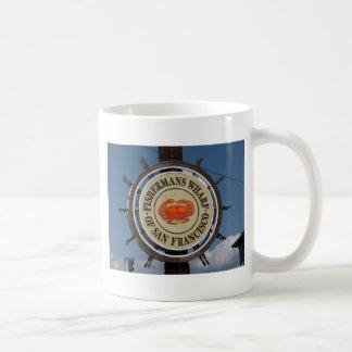 Der Kai-Zeichen des Fischers Kaffeetasse