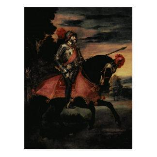 Der Kaiser Charles V zu Pferd Postkarte