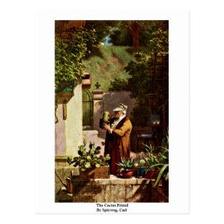 Der Kaktus-Freund durch Spitzweg, Karl Postkarte