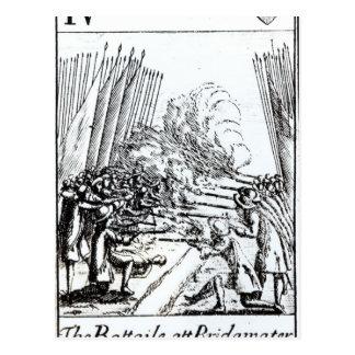 Der Kampf bei Bridgwater, am 6. Juli 1685 Postkarte
