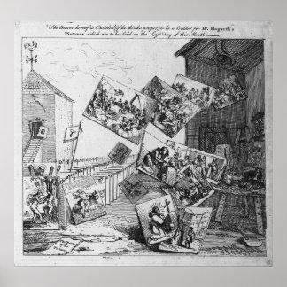 Der Kampf der Bilder, 1745 Poster