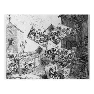 Der Kampf der Bilder, 1745 Postkarte