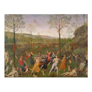 Der Kampf der Liebe und der Keuschheit, nach 1503 Postkarte