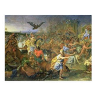 Der Kampf von Arbela (oder von Gaugamela) 331 BC, Postkarte