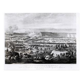 Der Kampf von Austerlitz in Moray Postkarte