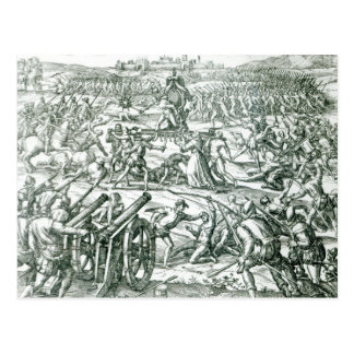 Der Kampf von Cajamarca, 1532 Postkarte