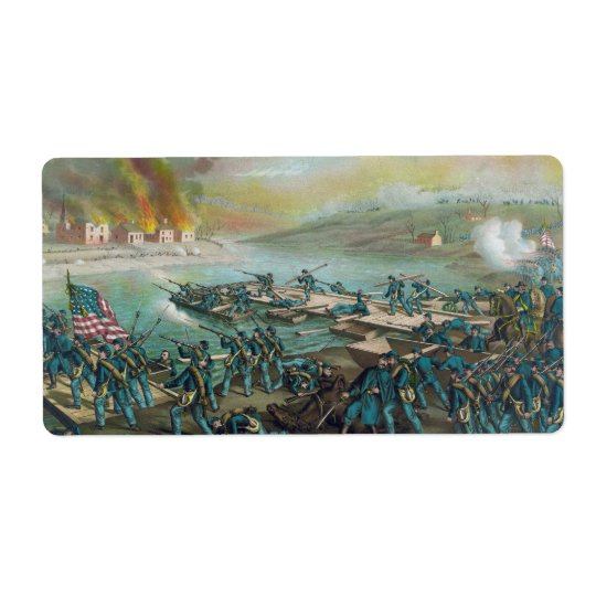 Der Kampf von Fredericksburg durch Kurz und Großer Adressaufkleber