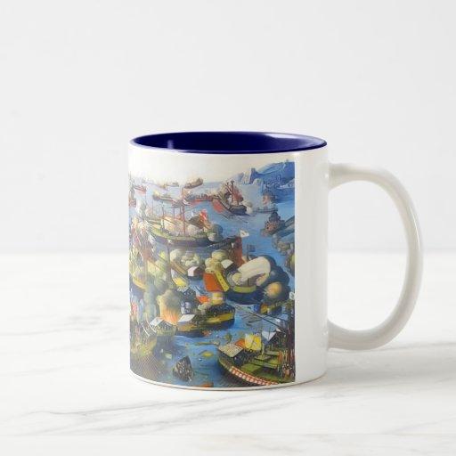 Der Kampf von Lepanto 1571 Kaffee Haferl