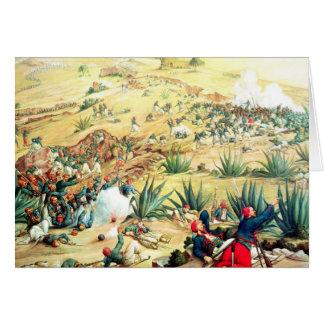 Der Kampf von Puebla, am 5. Mai 1862 Karte