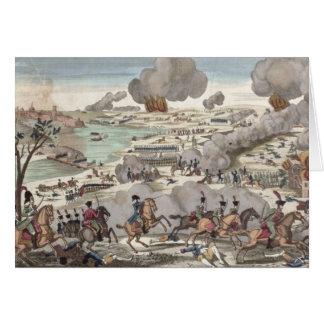 Der Kampf von Wagram, am 6. Juli 1809 (Stich) Grußkarte