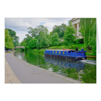 Der Kanal-Lastkahn-Gruß-Karte London-Regenten Karte