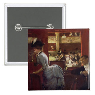 Der Kasten durch die Ställe, c.1883 Quadratischer Button 5,1 Cm