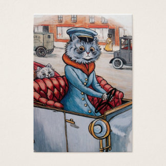 Der Katzen-Fahrer - doppelseitig Visitenkarte
