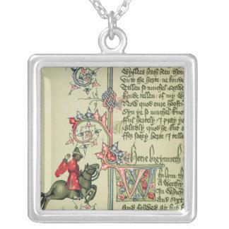 Der Kaufmann, Faksimiledetail von Halskette Mit Quadratischem Anhänger