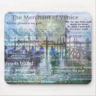 Der Kaufmann von Zitaten Venedigs Shakespeare Mauspads