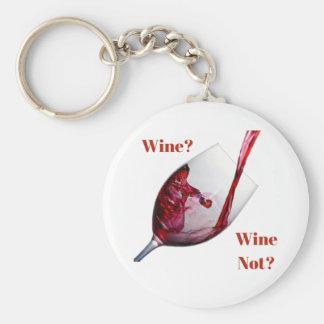 Der Keychain des Wein-Liebhabers - Wein? Wein Schlüsselanhänger