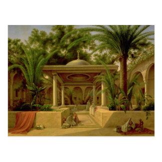 Der Khabanija Brunnen, Kairo, 1845 Postkarte