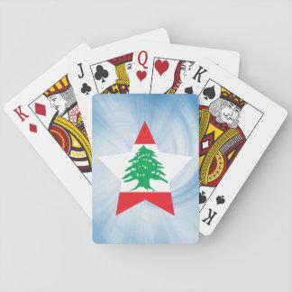 Der Kinderfreundlicher Libanon-Flaggen-Stern Spielkarten