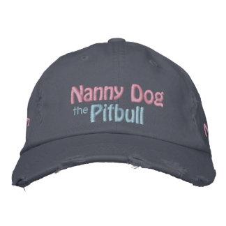 Der Kindermädchen-Hund, amerikanische Pitbull Terr Bestickte Mützen