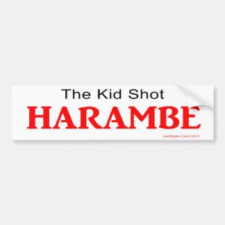 Der Kinderschuß Harambe Autoaufkleber
