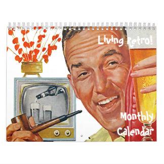 Der Kitsch Bitsch: Lebender Retro Monatskalender Kalender