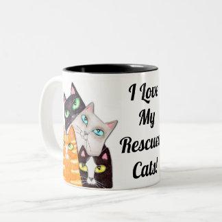 Der Kitty-kundenspezifische Kaffee-Tasse des Zweifarbige Tasse