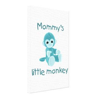 Der kleine Affe der Mama (aquamarin) Leinwanddrucke