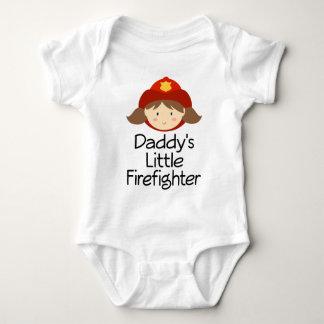 Der kleine Feuerwehrmann des Vatis Baby Strampler