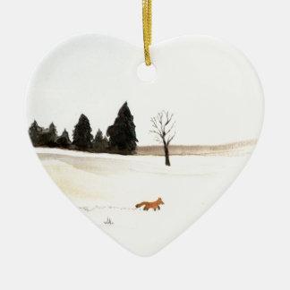 Der kleine Fox Keramik Ornament