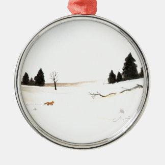 Der kleine Fox Silbernes Ornament