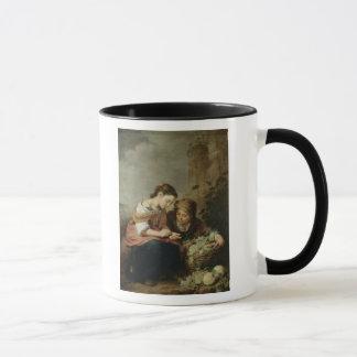 Der kleine Frucht-Verkäufer, 1670-75 Tasse