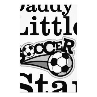 Der kleine Fußballstar des Vatis Briefpapier