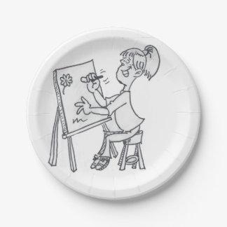 Der kleine Künstler Pappteller