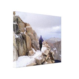 Der kletternde Mount Whitney Leinwanddruck