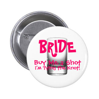 Der Knopf der Braut Runder Button 5,7 Cm