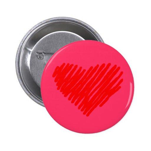 Der Knopf des Valentinsgrußes Anstecknadelbuttons