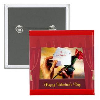 Der Knopf des Valentinsgrußes Anstecknadelbutton