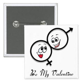 Der Knopf-Valentinsgrüße sind meine Buttons