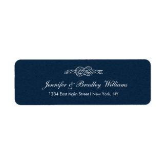 Der Knoten-Hochzeits-Rücksendeadresse-Aufkleber