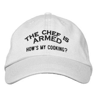 Der Koch ist BEWAFFNETE 2 Bestickte Kappe