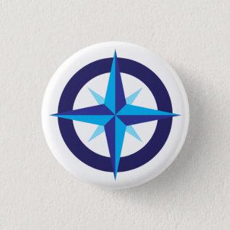 Der Kompass-Stern-Knopf des Schiffs Runder Button 2,5 Cm