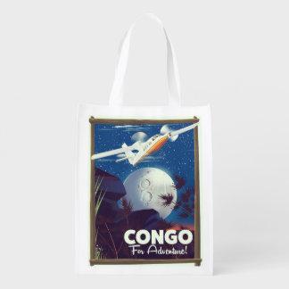 Der Kongo für Abenteuer! Reiseplakat Wiederverwendbare Einkaufstasche