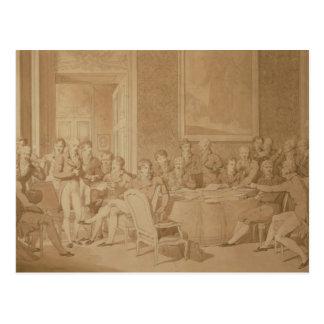 Der Kongreß von Wien, 1815 Postkarte